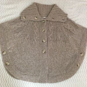 Old Navy wool blend sweater/poncho, size S/P.